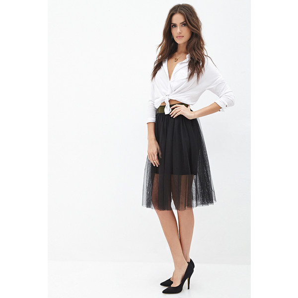21 contemporary layered tulle midi skirt
