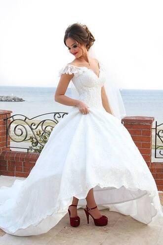 dress wedding dress high low wedding dress beach wedding dress lace wedding dress ball gown wedding gown