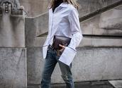 oracle fox,blogger,belt,white blouse,bell sleeves,ripped jeans,burgundy,louis vuitton,louis vuitton bag,streetwear