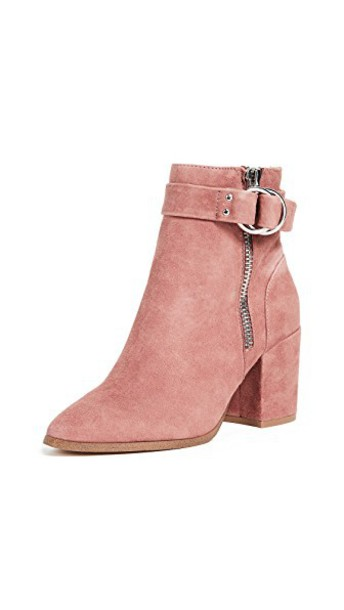 Steven heel ankle boots pink shoes