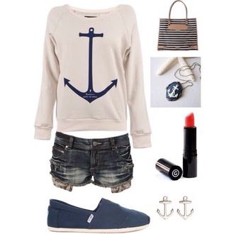sweater anchor toms blouse