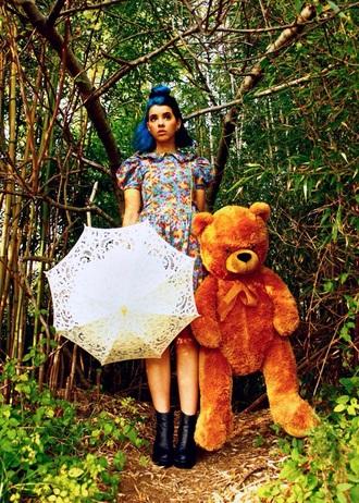 dress melanie martinez cute harajuku vintage 90s style crybaby umbrella stuffed animal