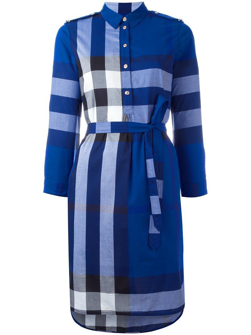 Dress Shirt Dress Women Cotton Blue Wheretoget