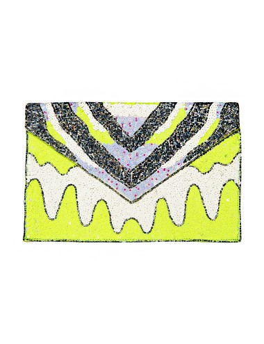 Beaded Party Clutch - Neon Envelope Clutch -$99
