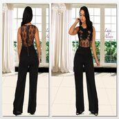 jumpsuit,luxe aloure,all black everything,sheer,lace romper,lace bralette,celebrity style