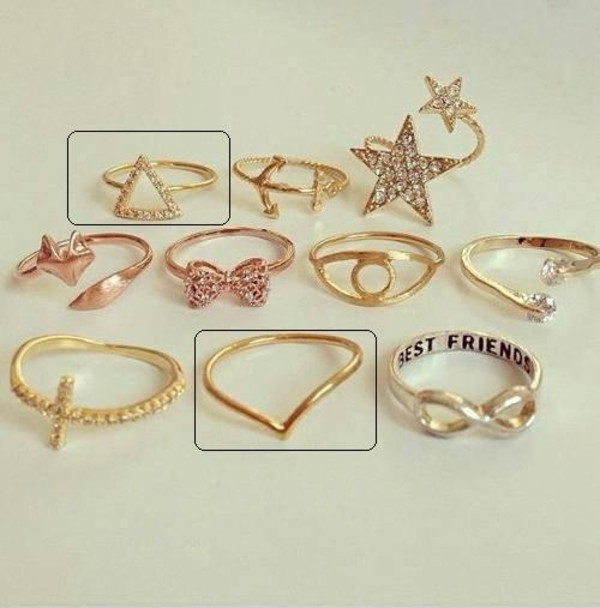 jewels ring ring triangle ring v shape v shape ring knuckle ring above knuckle ring knuckle ring rhinestones gold ring triangle rhinestone ring gold ring jewelry