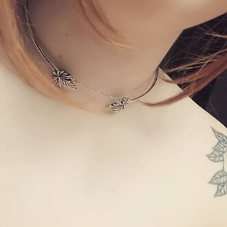 jewels shop dixi leaves choker necklace necklace boho bohemian grunge goth jewelry