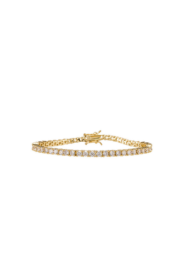 joolz by Martha Calvo Clear Tennis Bracelet in gold / metallic