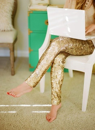 leggings gold gold sequins sparkly glitter
