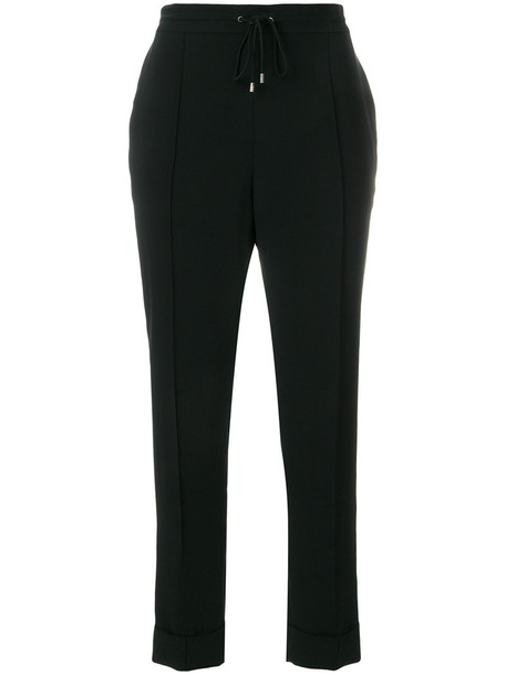 Kenzo cropped women drawstring black pants