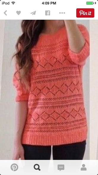 sweater style pink pink sweater soft classy coral pink sweater