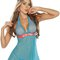 Turquoise babydoll lingerie dress