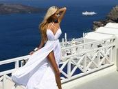 dress,dasha kononovich,white maxi dress,greece,beach,summer love,beach dress,white long dress,maxi dress,white,straps,formal,prom,maxi,summer,ocean,white dress,prom dress,clothes,white long maxie,pretty,cute dress,beautiful,fashion,style