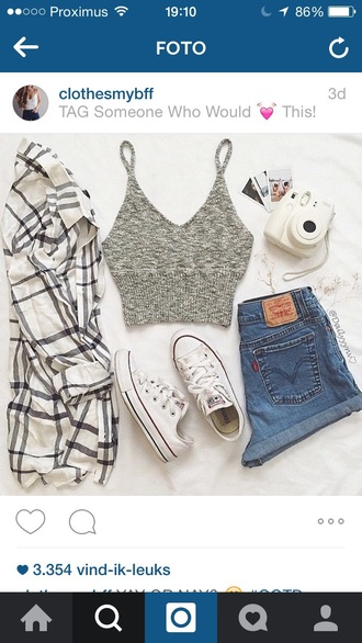 shorts top shirt crop tank top grey shirt grey top