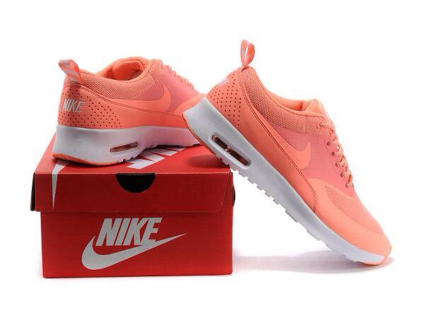 shoes automatic pink peach nike air max thea coral