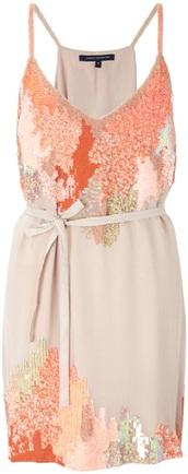 dress,sequins,sequin dress,nude,coral dress,coral,nude dress,peach,brown,orange,teal,summer dress