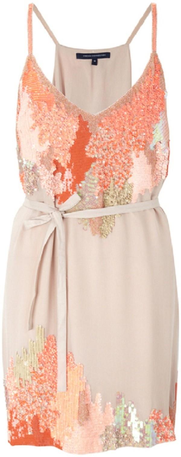 dress sequins sequin dress nude coral dress coral nude dress peach brown orange teal summer dress