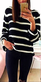 sweater,black,black and white,black striped,stripes,striped top,knitwear,knitted top,black sweater,black knit sweater,black pullover,long sleeves,long sleeve top,winter outfits,sexy,fashion,casual top,casual jeans top,jeans top,preppy,scool,musthave,girly,cute,cute top,slim jeans top,fashion fashion toast,fashion vibe,fashion inspo,fashion coolture,knits,knitting,loose,loose top,women casual,dark,girly wishlist,hot,cool,warm,warm top,style,style  scrapbook,lookbook,urban,streetwear,streetstyle,preppy top,tumblr,tumblr top,tumblr outfit,moraki,all black everything,fashion is a playground