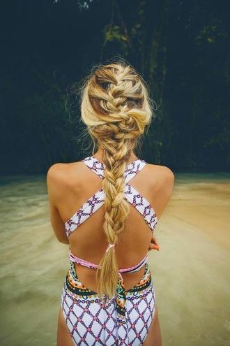swimwear open back one piece tumblr