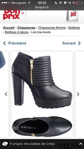 shoes black ankle boots