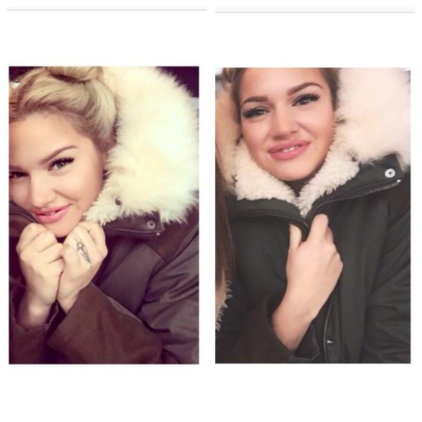 coat green fur coat fur luxury luxus luxurious fashion style winter coat winter outfits parka parka coat olive kaki gorgeous