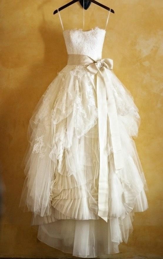 Handmade lace wedding dresses sash