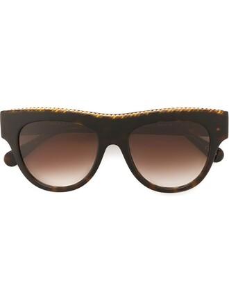 oversized sunglasses brown
