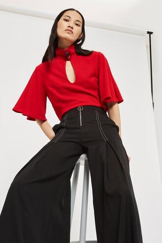 pants style zip black