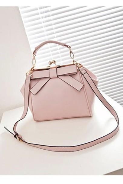 bag pink bow