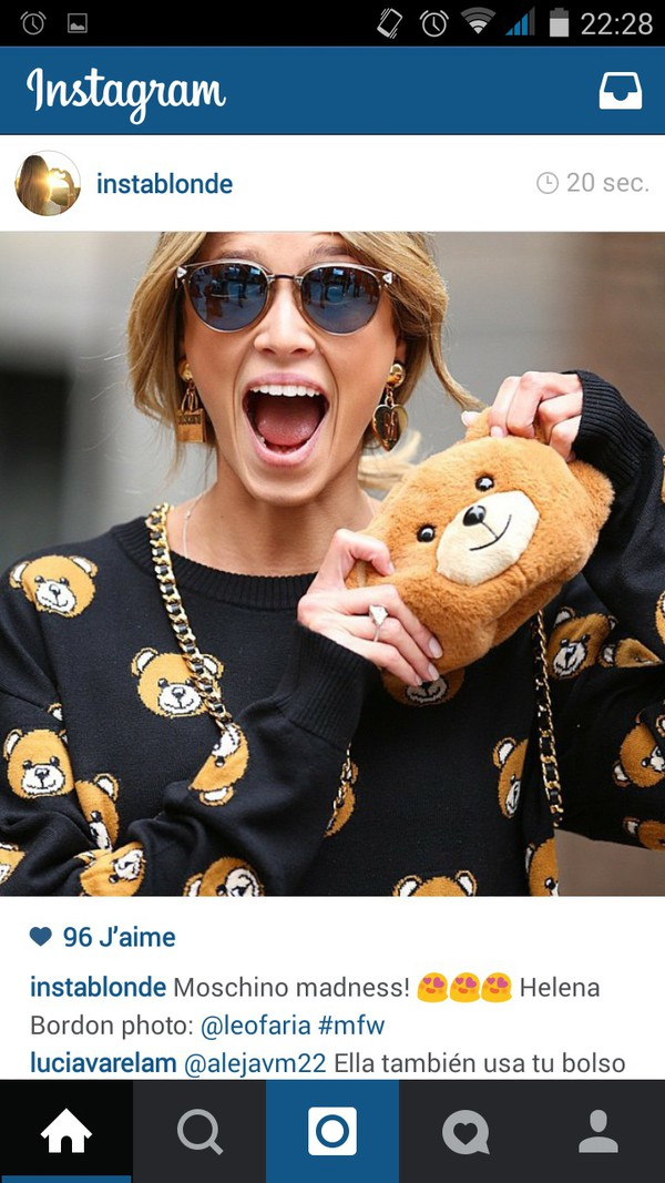 sweater pull pullover ours peluche hiver