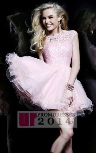 Backless pink beaded lace party dress with tiered tulle [sh
