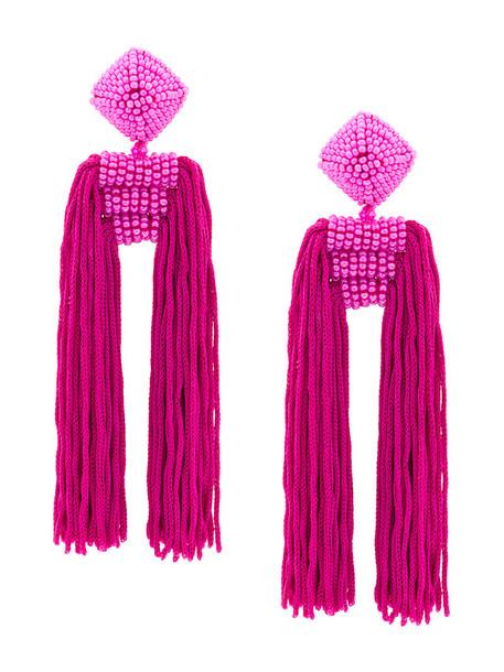Sachin & Babi women earrings purple pink jewels