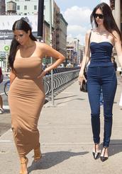 dress,nude,nude dress,kim kardashian,keeping up with the kardashians,sexy dress,pencil skirt,summer dress