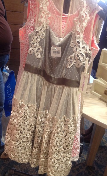 dress beige brown country