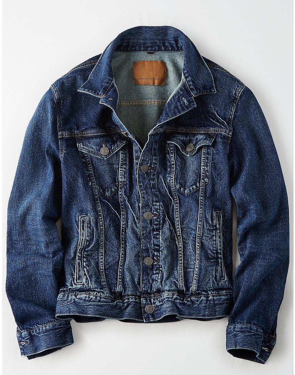 AEO Dark Wash Denim Jacket