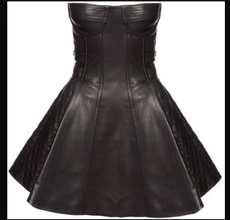 dress bustier dress black dress leather dress