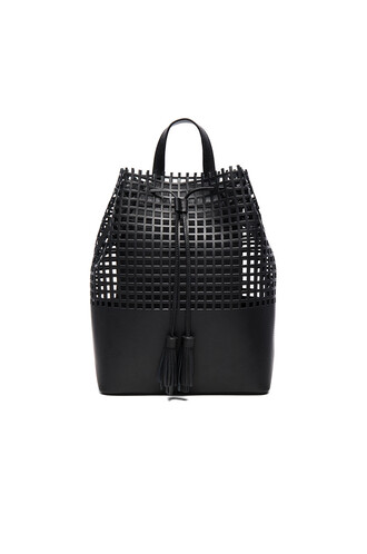 tassel backpack black