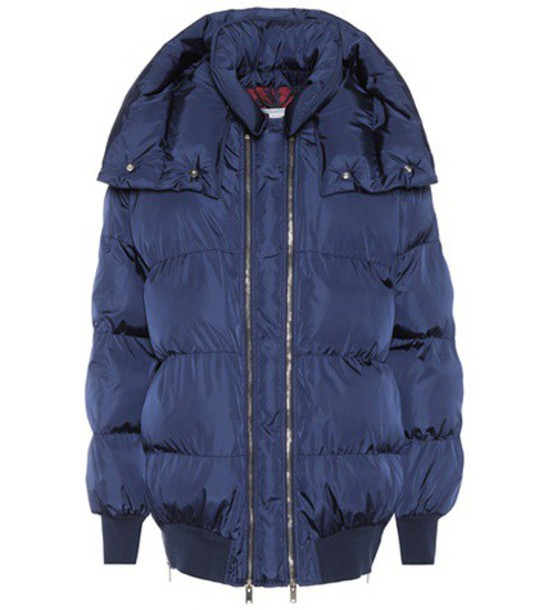 Stella McCartney jacket puffer jacket blue