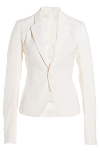 blazer wool white jacket