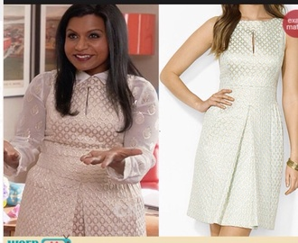 blouse mindy kaling white shirt embroidered leaves white silver cream dress the mindy project