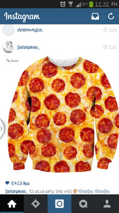 sweater,pizza shirt,sweatshirt,cool,cute,funny sweater,pizza,tie dye,dress