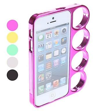 Special design knuckle case met standaard voor de iphone 5 (verschillende kleuren), gratis verzending voor alle gadgets!