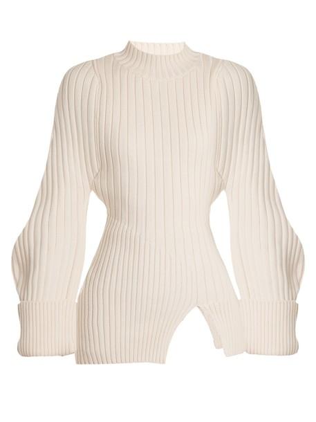 Jacquemus sweater wool sweater wool knit cream