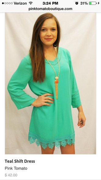 dress flat dress cute dress cute pretty design teal dress cuteoutfit