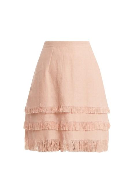ANDREW GN skirt mini skirt mini light pink light pink