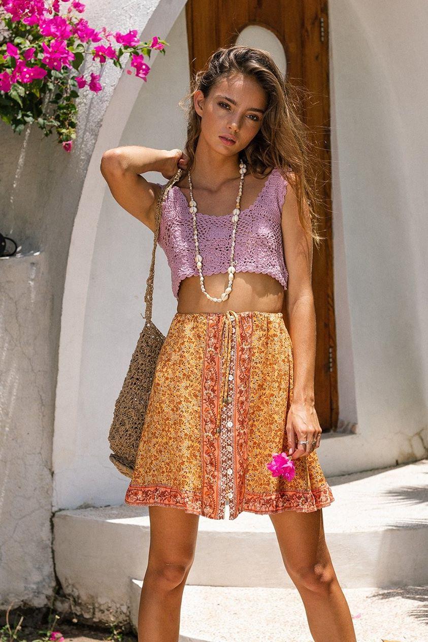 Island Mini Skirt in Mimosa