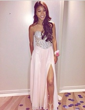 dress,prom,pink,jewels,corset,long,slide slit,strapless,me,this,pageant,sweetheart neckline,sweet 16 dresses