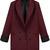 Wine Red Lapel Long Sleeve Pockets Blazer - Sheinside.com