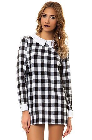 MKL Collective Dress Plaid Black and White -  Karmaloop.com