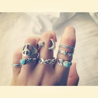 jewels ring silver ring knuckle ring big rings